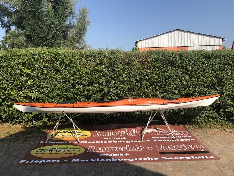 Prijon Neptun GFK orange/weiß Vorführboot 1er kajak 2019