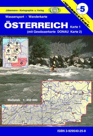 Jübermann Wassersport- Wanderkarte WW5 Österreich mit Donau