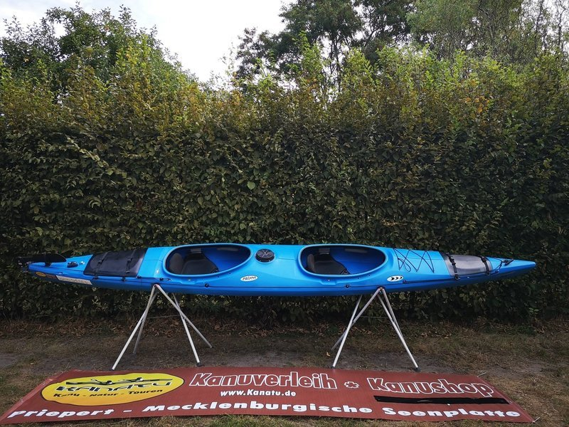 Prijon Excursion EVO blau gebraucht Kajak Set 2018