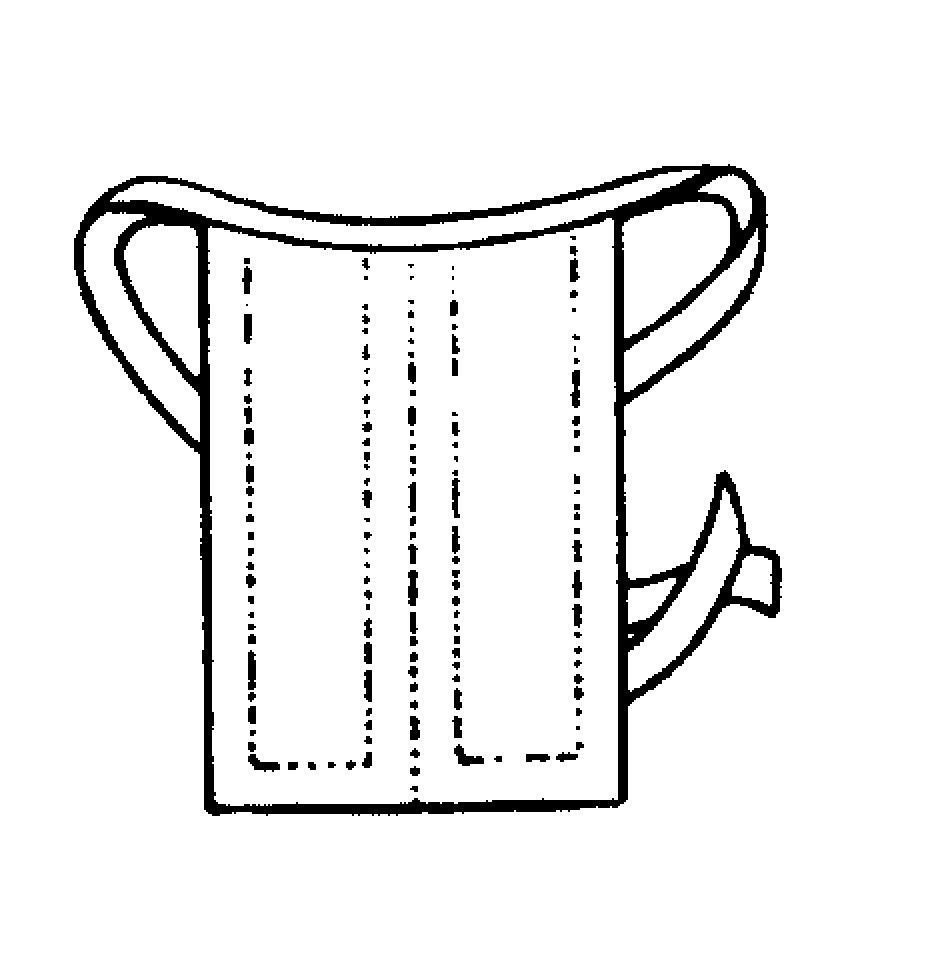 Bindebeffchen, uniert (halboffen),