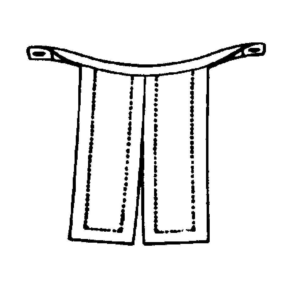 Unterknöpfbeffchen, uniert (halboffen)