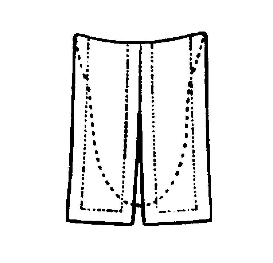 Einsteckbeffchen, lutherisch (ganzoffen)