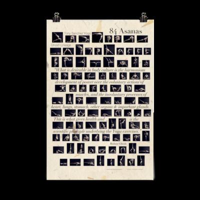 Tony's 84 Asanas Poster