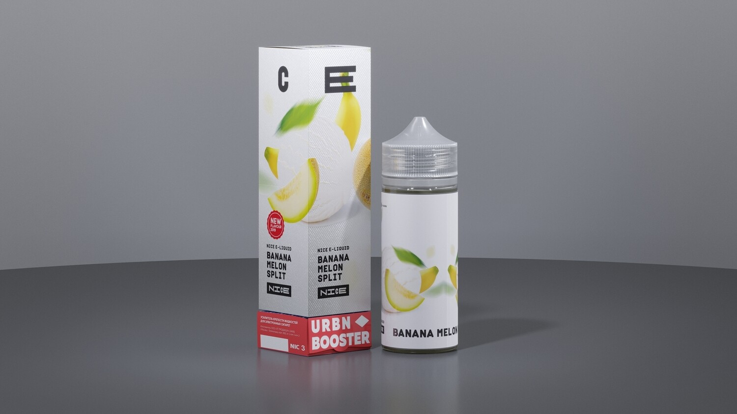 NICE BY URBN: BANANA MELON SPLIT 95ML