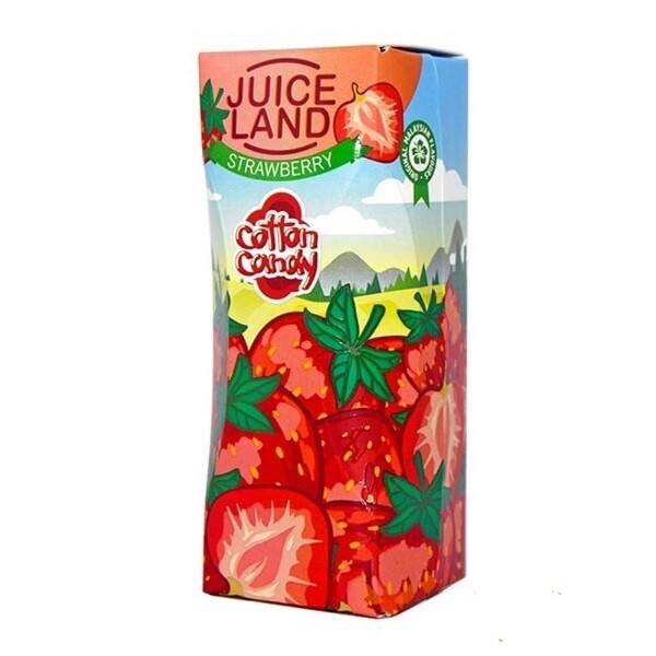 JUICELAND BY COTTON CANDY: STRAWBERRY 100ML