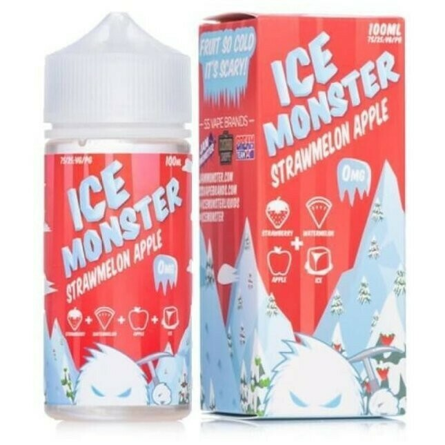 ICE MONSTER: STRAWMELON APPLE 100ML 0MG