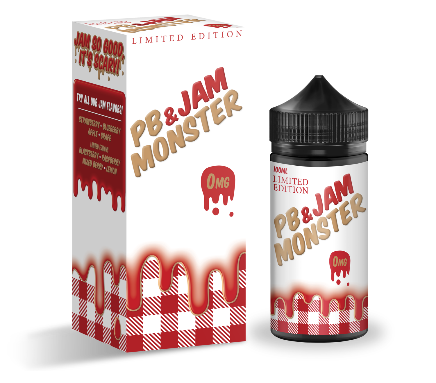 JAM MONSTER PB & JAM: STRAWBERRY 100ML 3MG