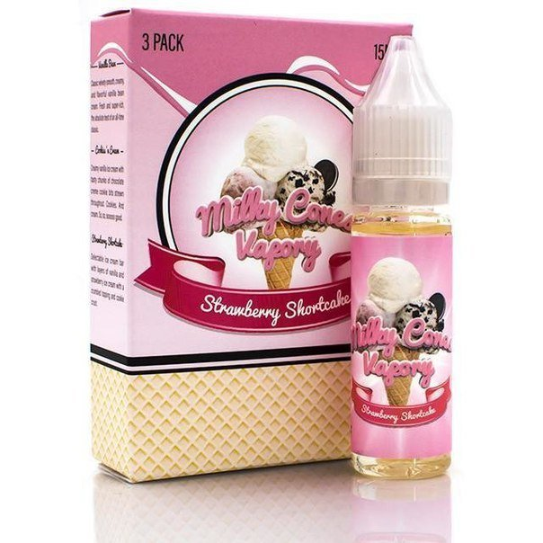 MILKY CONES VAPORY:STRAWBERRY SHORTCAKE 45ML
