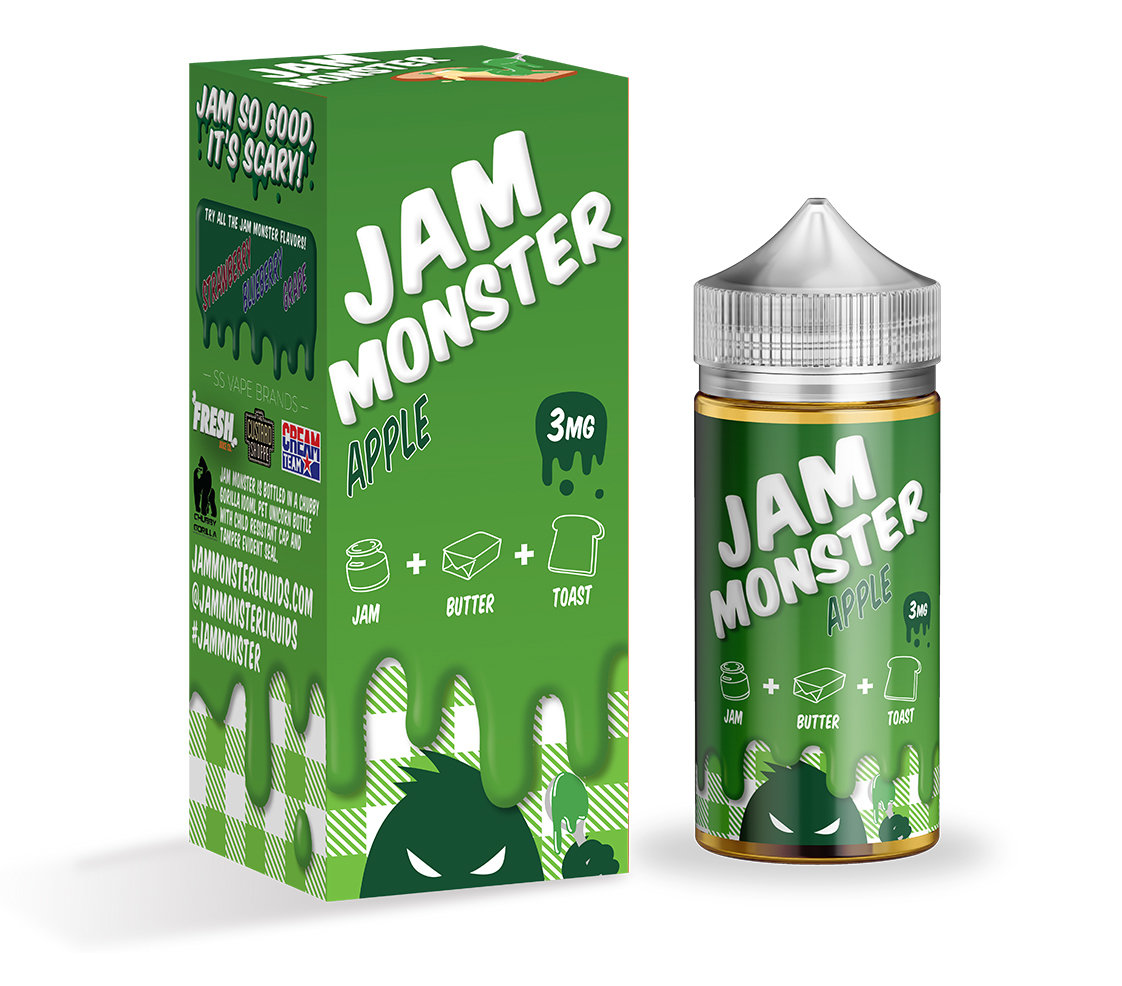 JAM MONSTER: APPLE 100ML 0MG