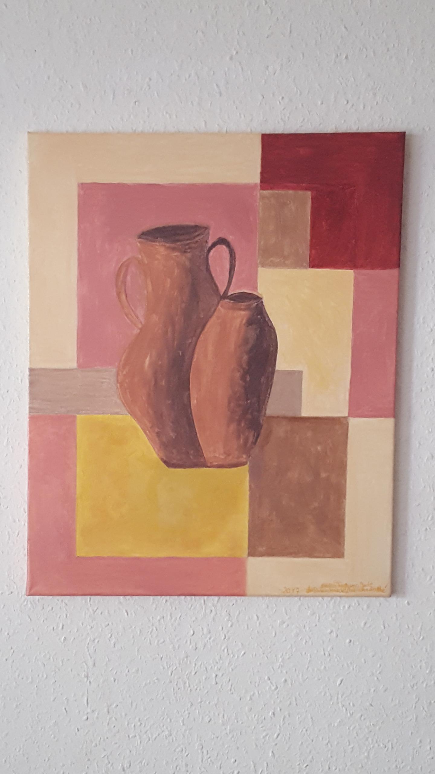 Acyrl Gemälde   Ton Krüge               40X50 cm X 1,5 cm 020