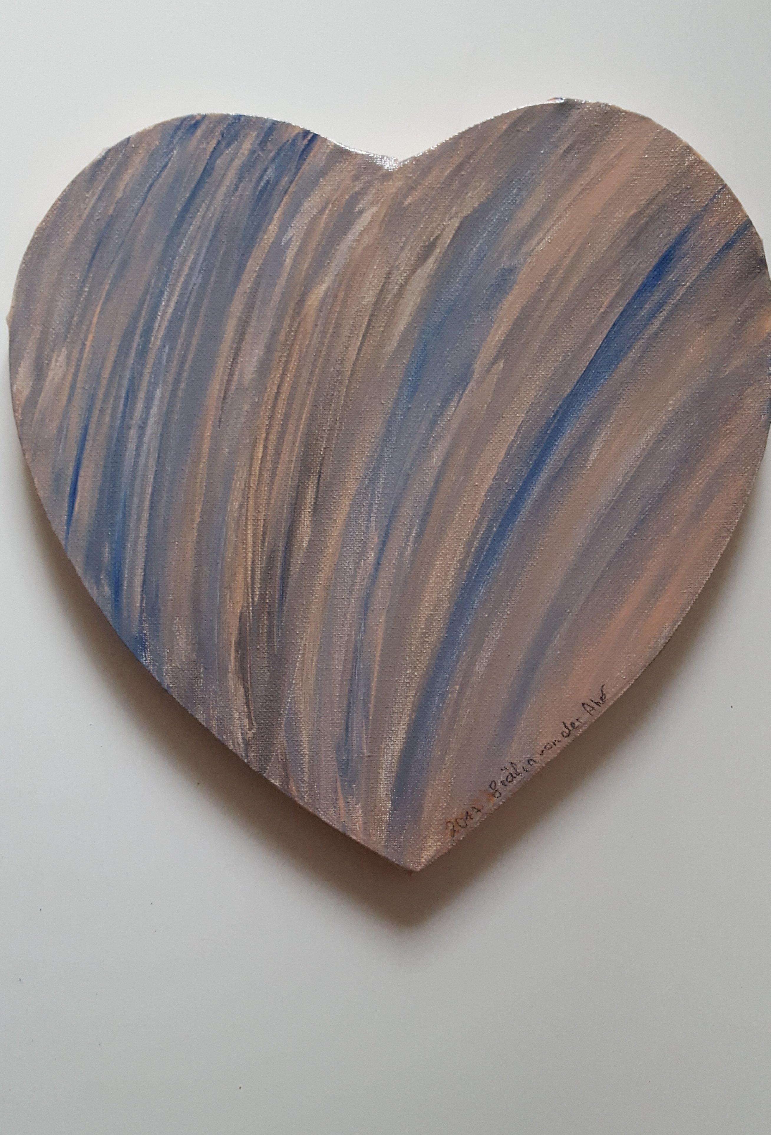 """""""Herz""""  Acryl Bild  Gräfin von der Ahé   Herz Leinwand auf Keilrahmen 29 x29 cm 2cm hoch 12"""