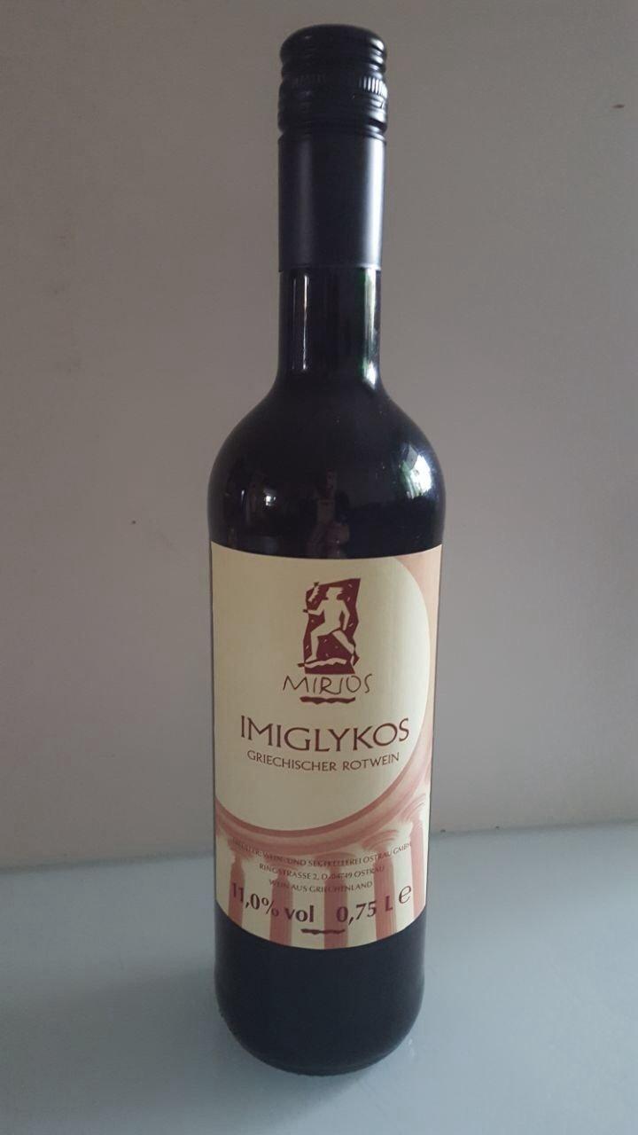 Mirios Imiglykos Rotwein 0,75 l Flasche 042