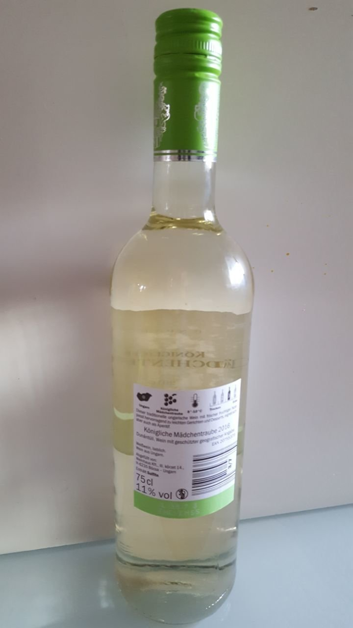 Ungarn Königliche Mädchentraube Ungarn lieblich, Weißwein 2016