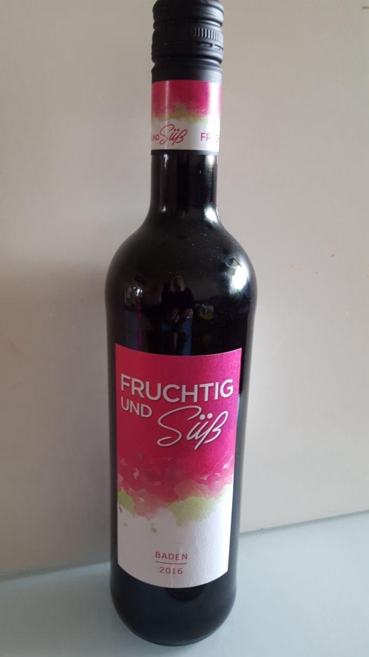 Fruchtig und Süß  Baden, Rotwein 2016 051