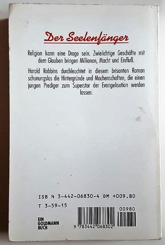 Harold Robbins Der Seelenfänger 1982 ungekürtze Ausgabe 1982 Roman