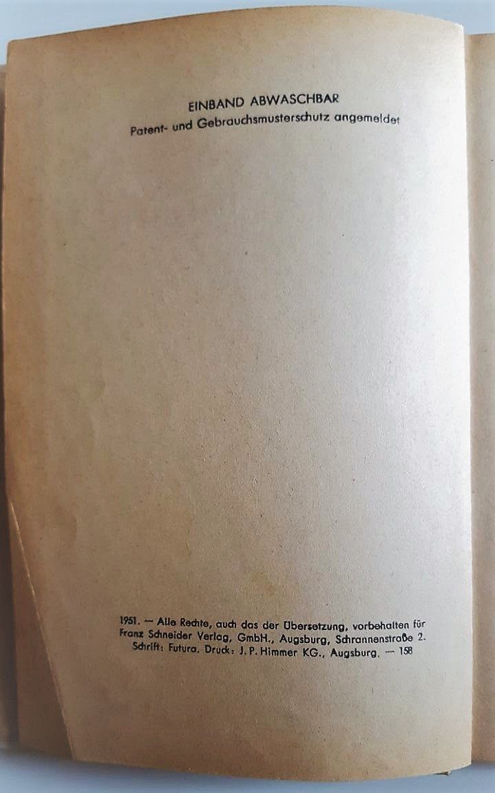 Bunte Blumen. Augsburg, Franz Schneider, 1951. Mit Illustrationen. 86 S.