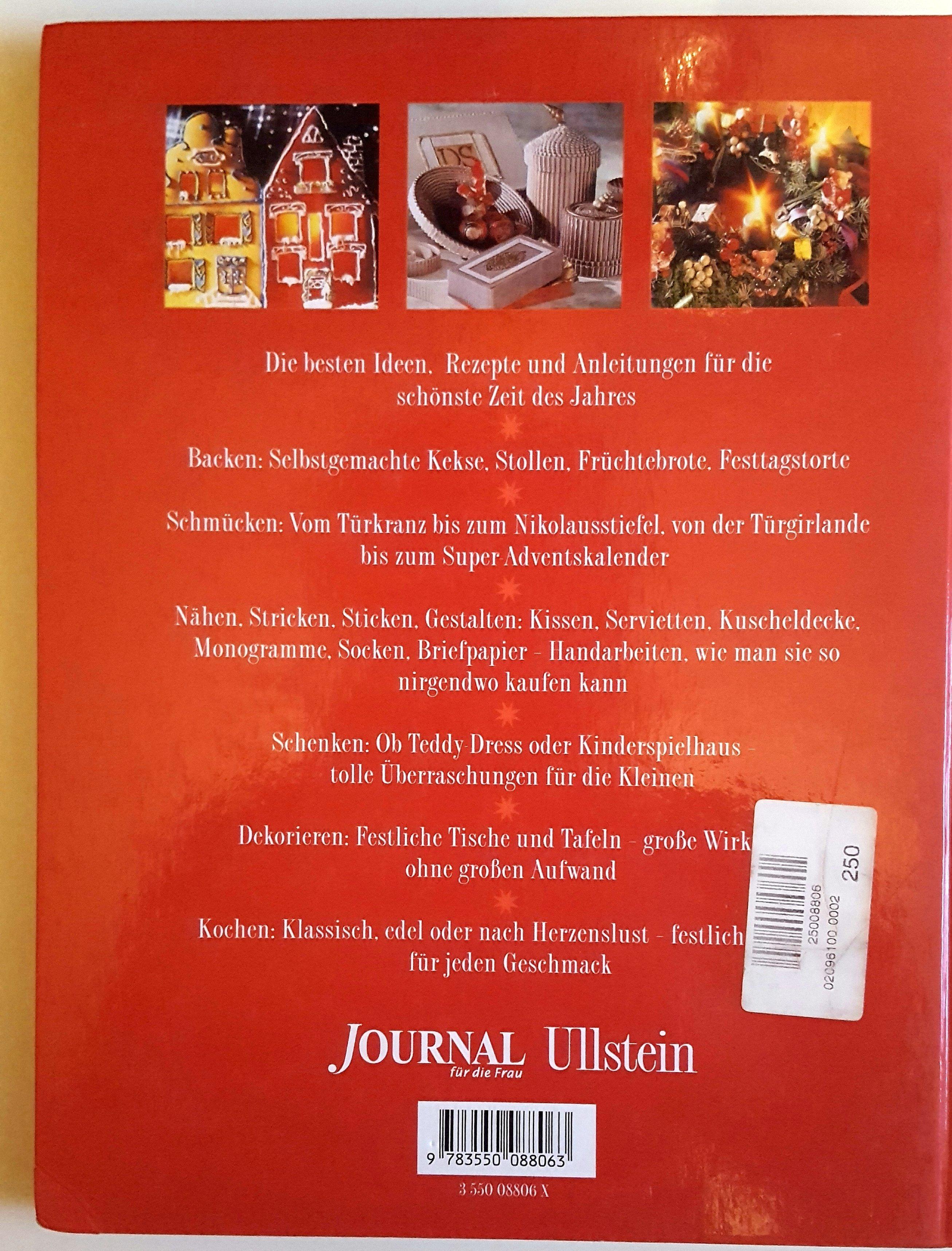 Das neue große Advents-und Weihnachtsbuch - backen, basteln, schmücken  Journal für die Frau - mit zahlreichen Farbbildern 1997 – Buch gebraucht kaufen