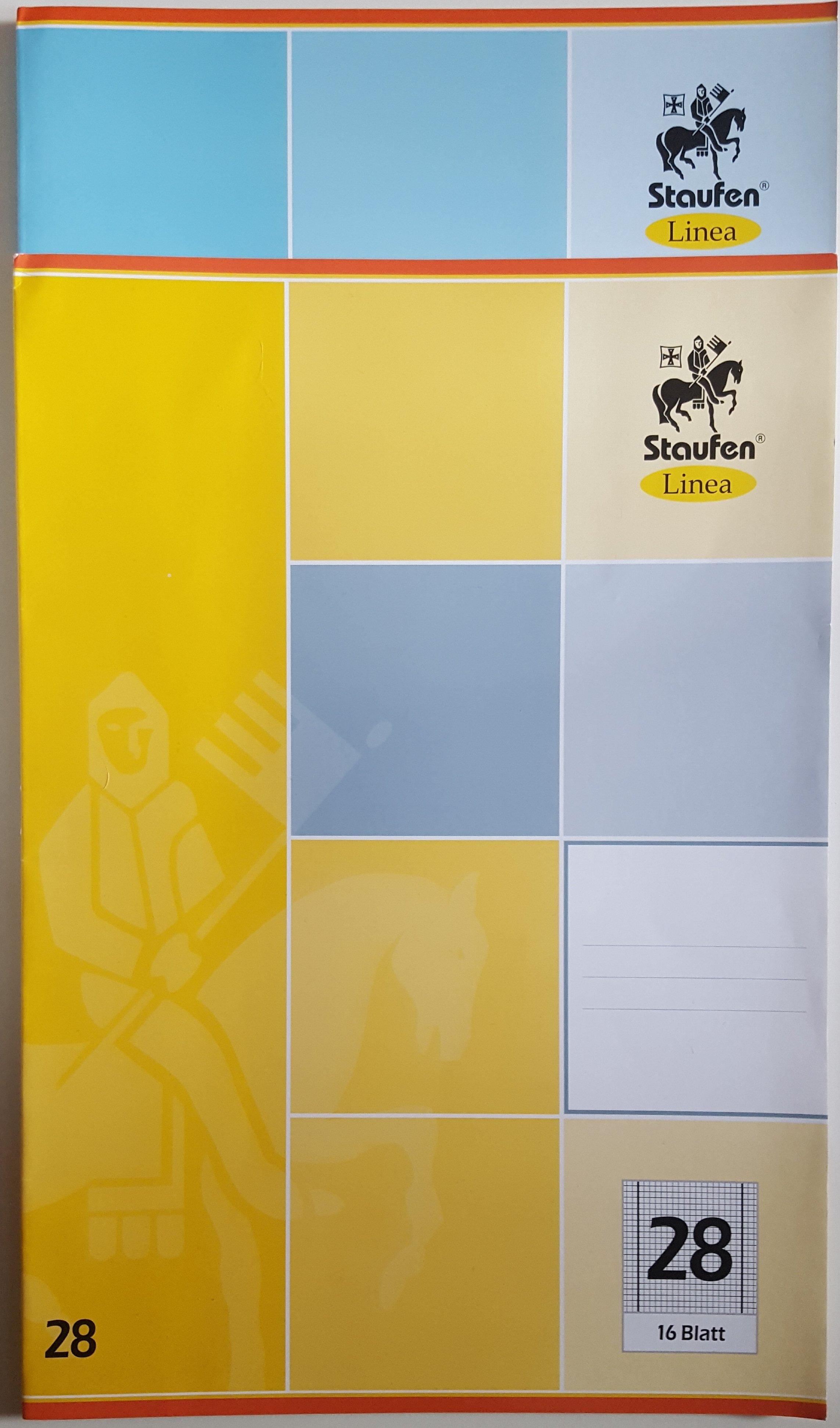 5er Set Schulheft  Staufen Linea  DIN A4 16.Blatt Lineatur 28  kariert Innen und Außenrand 301