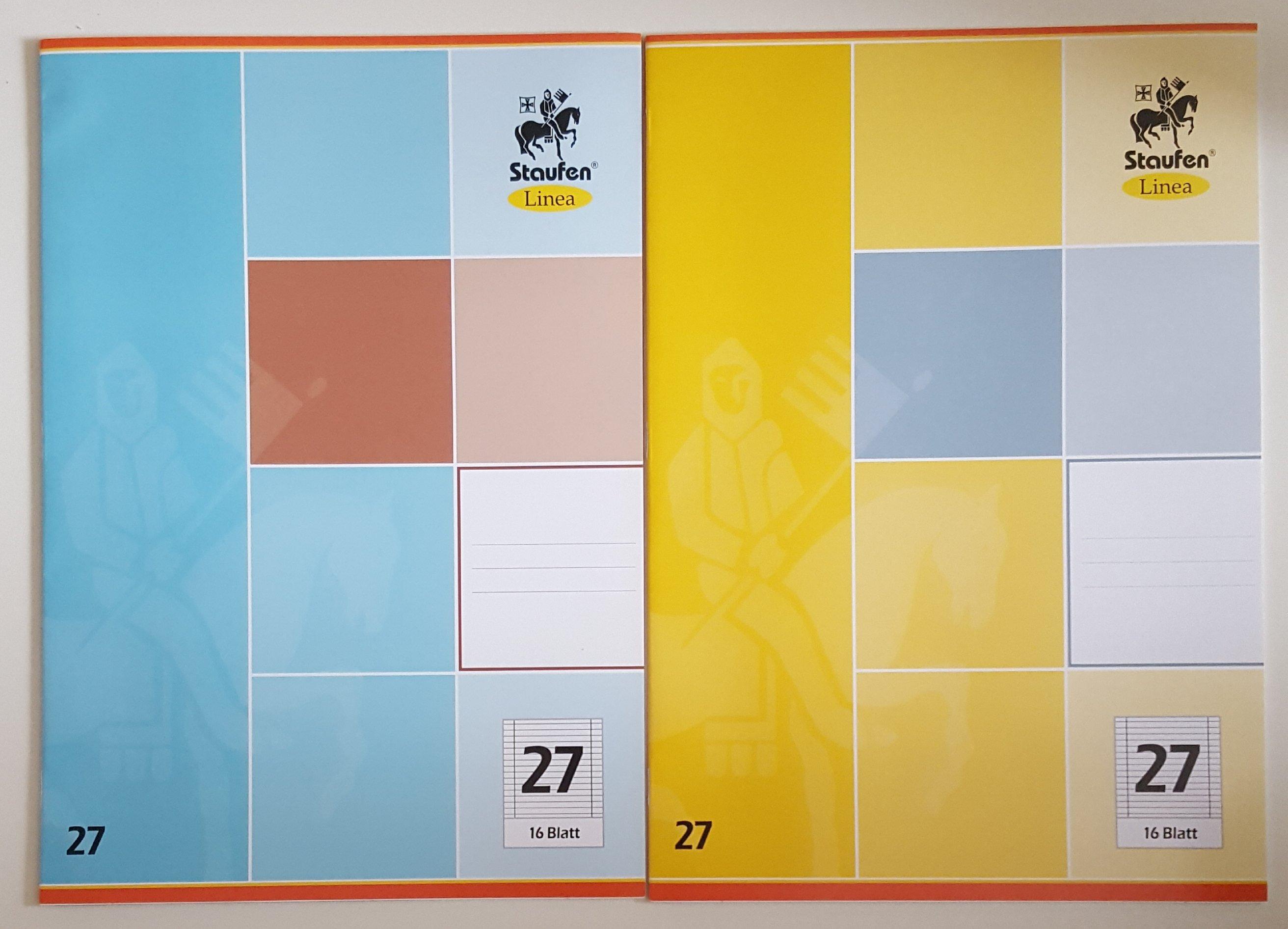 5er Set Schulheft Staufen Linea DIN A4 16 Blatt Liniert Lineatur 27 Doppelrand 302