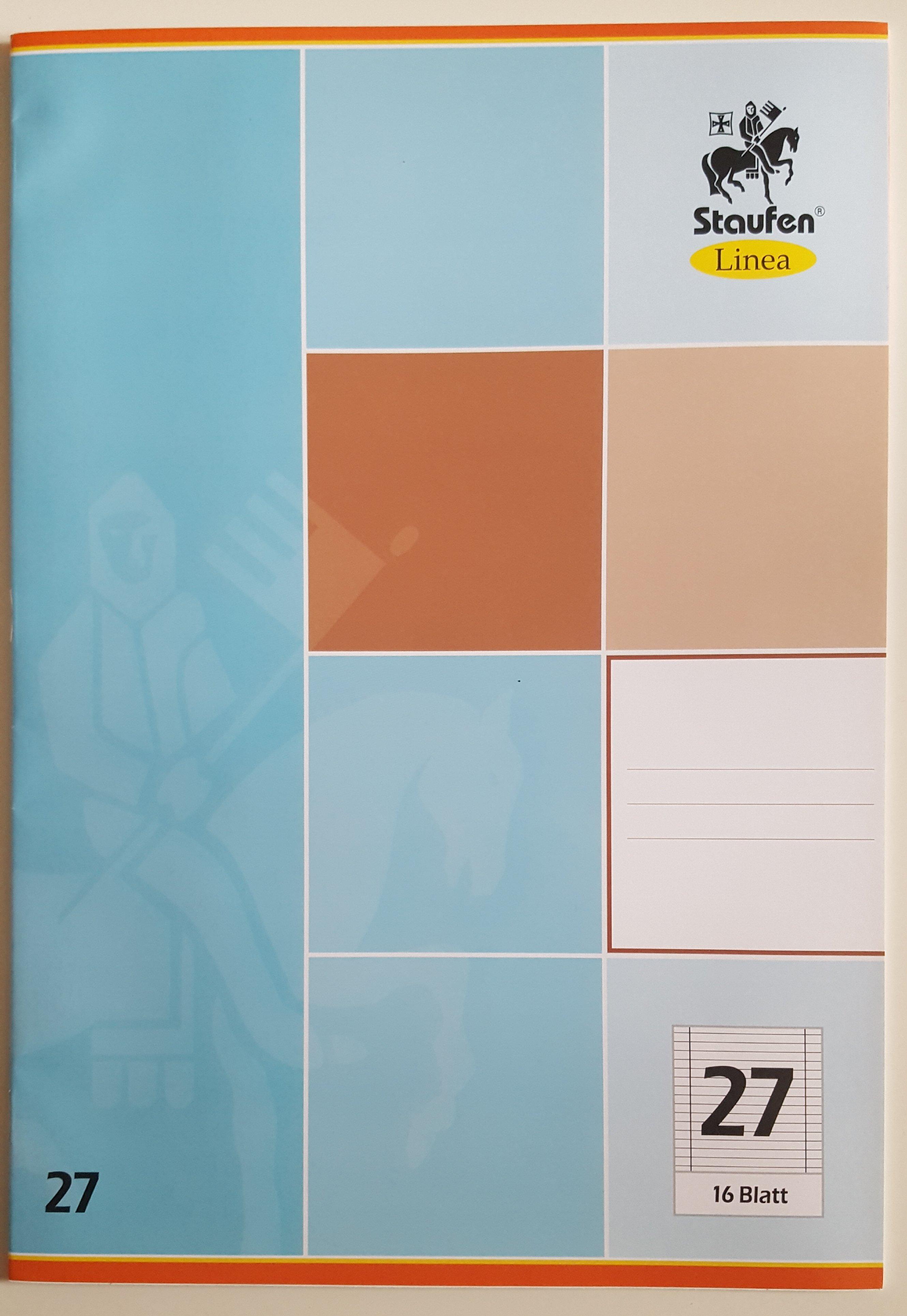 5er Set Schulheft Staufen Linea DIN A4 16 Blatt Liniert Lineatur 27 Doppelrand