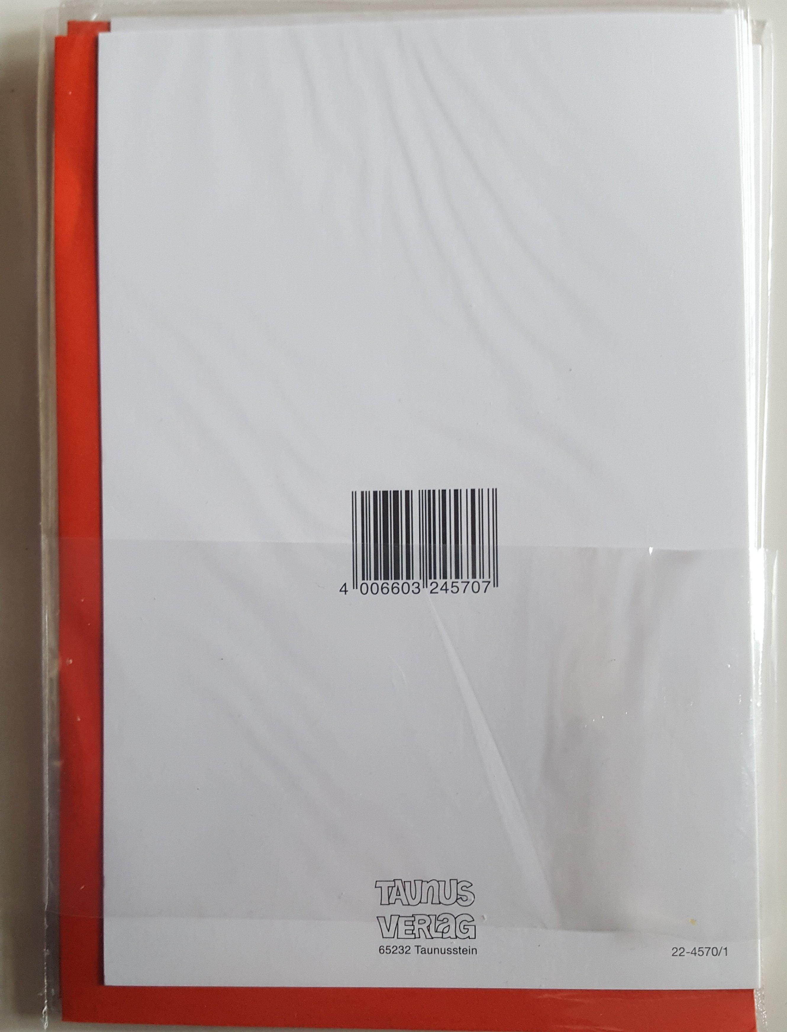 Weihnachts Grußkarte mit rotem Umschlag Taunus Verlag