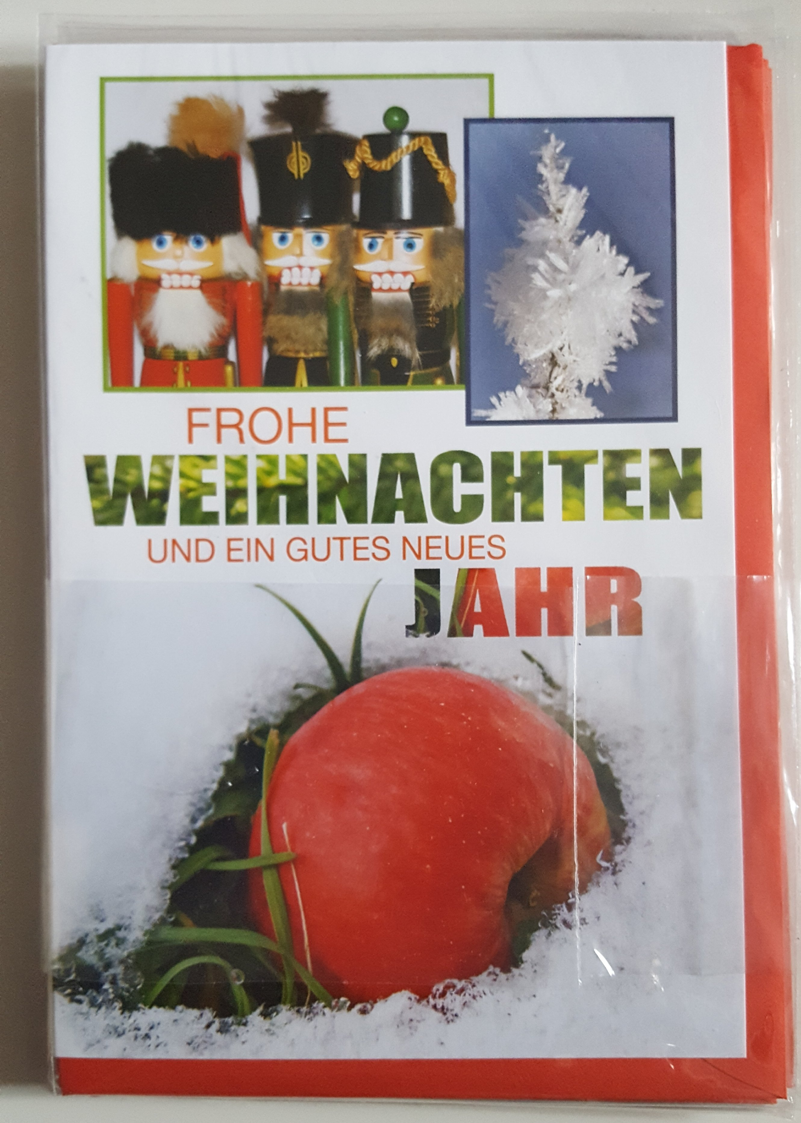 Weihnachts Grußkarte Nußknacker  mit Umschlag Taunus Verlag 403
