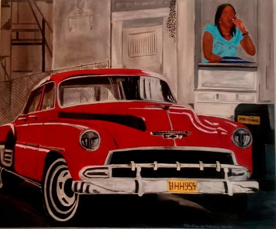 """Cuba""  Öl Gemälde 502"