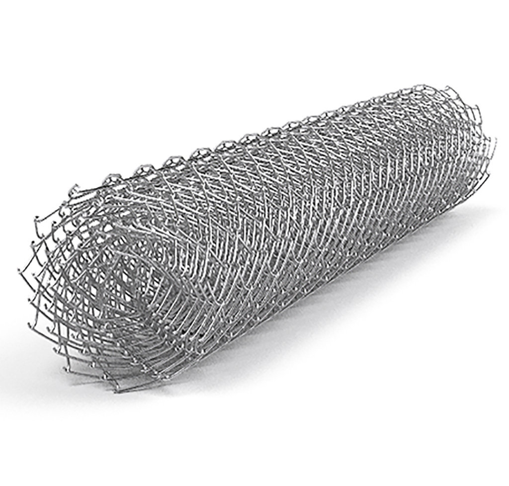 Сетка рабица 50х50 (d-1,6 мм) оцинкованная 00253