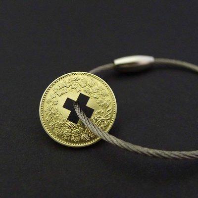 Schlüsselanhänger Schweizerkreuz und Herz Füferli