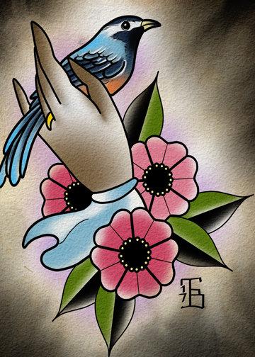 Victorian Bird Print