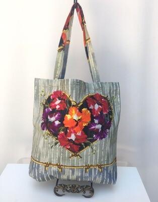 Tote Bag Hibiscus Heart