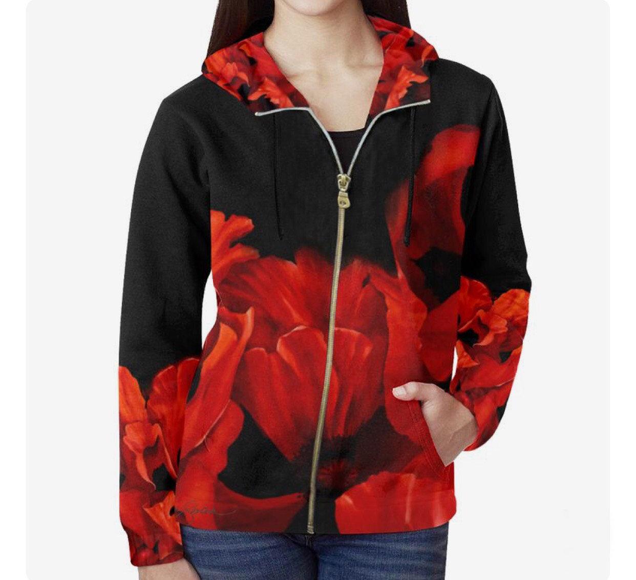 Red Poppy Hoodie