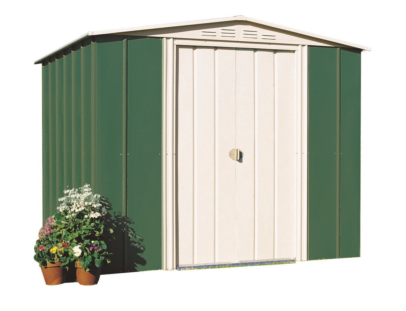 Beautiful Federation Green 6 X 7 Ex Double Sliding Doors. Cottage Garden Shed ...
