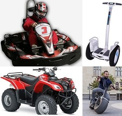 GO-KART / QUAD-BIKE / BUBBLE FOOTBALL/ MONSTER ROLLER