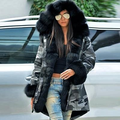 Women Warm Winter  Hooded Jacket Parka Coat