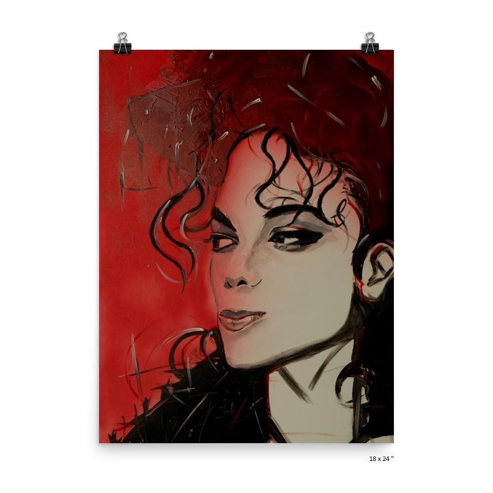 Poster 'Michael Jackson' by J.M. Art