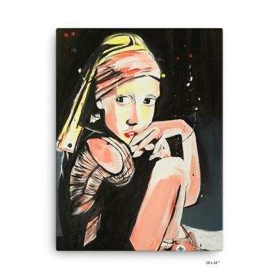 Canvas 'Sneaker Girl' by J.M. Art