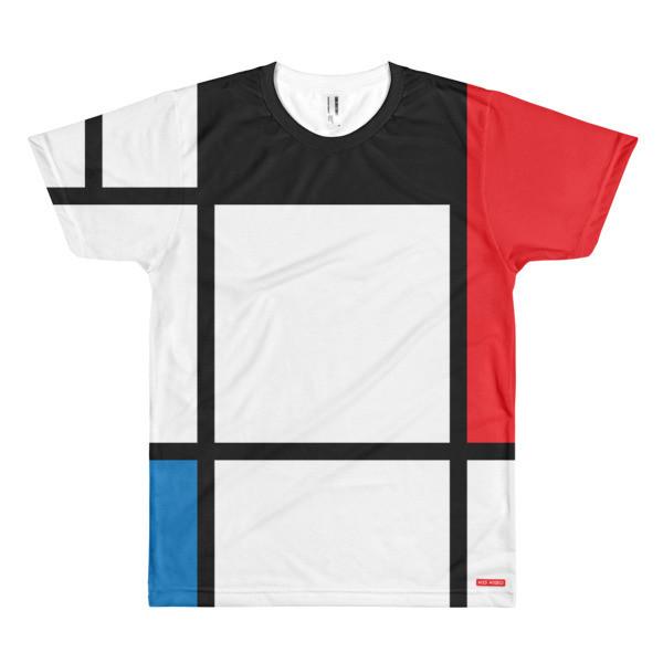 Short sleeve Men's T-shirt 'Mondriaan' by KoKizo Design