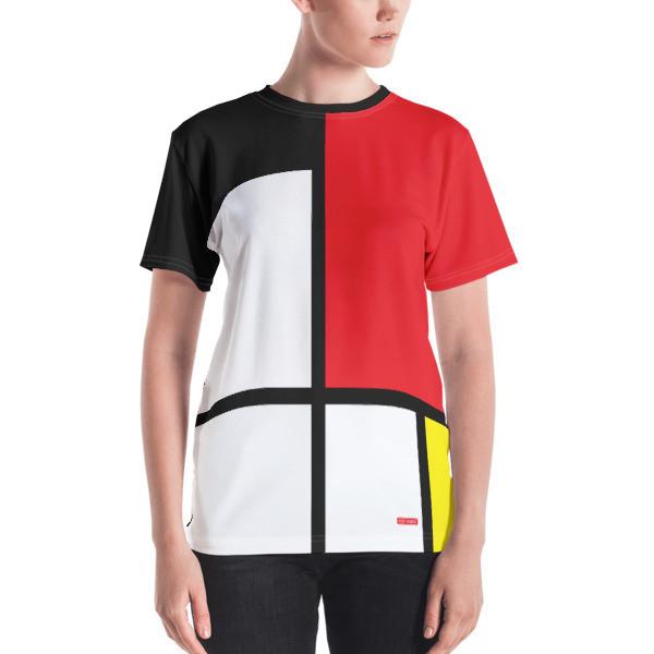 Women's T-shirt 'Mondriaan' by KoKizo Design