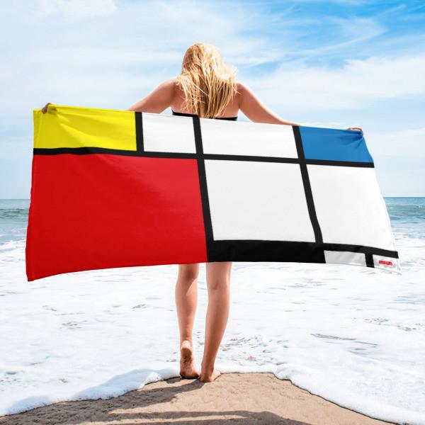 Towel 'Mondriaan' by KoKizo Design