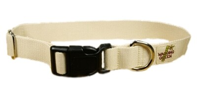 Eco Friendly Bamboo Single Layer Dog Collar - Natural (undyed) (1