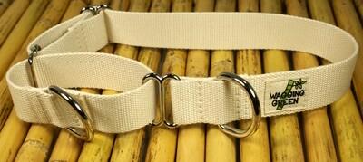 Eco Friendly Bamboo Single Layer Martingale Dog Collar - Natural (1