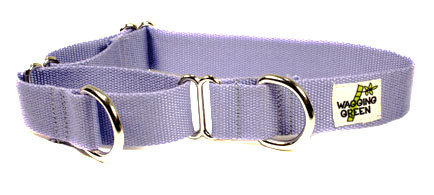 R Eco Friendly Bamboo Double Layer Martingale Dog Collar