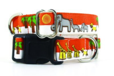 Eco Friendly Bamboo Saving The Earth Series Dog Collars - Save the Pack (1