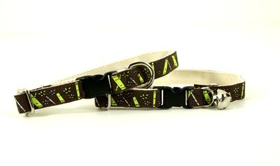 Eco Friendly Bamboo Saving The Earth Series Cat Collar - Bamboo Pooch