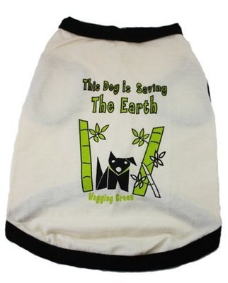 Eco Friendly Bamboo Saving The Earth Series Dog T-Shirt
