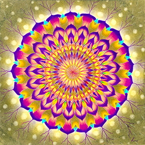 Lysel Mandala 'Jezelf Vieren' (wenskaart, artprint of orignele tekening)