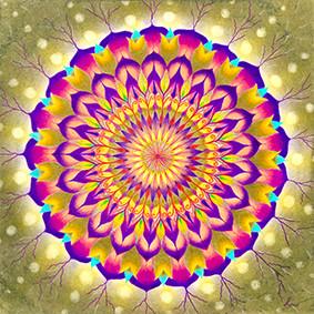 Lysel Mandala 'Jezelf Vieren' (wenskaart, print of orignele tekening)