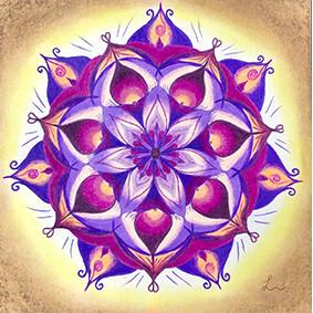 Lysel Mandala 'Ruimte Nemen' (wenskaart, artprint of originele tekening)