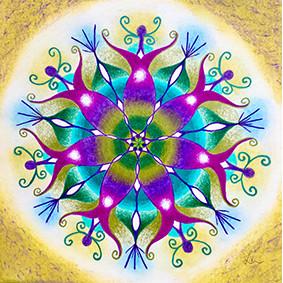 Lysel Mandala 'Passie' (wenskaart of print)